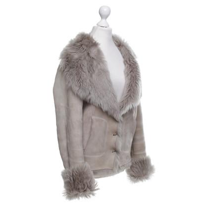 Plein Sud giacca di pelliccia in beige
