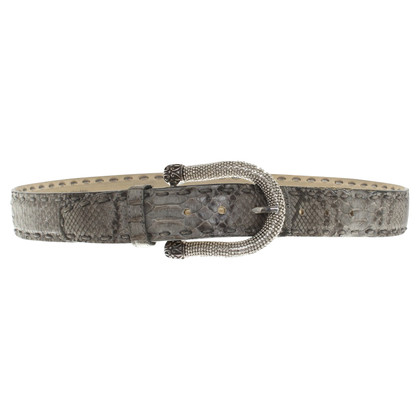 Ralph Gladen Python leather belt