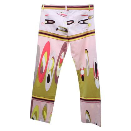 Emilio Pucci Pantaloni con motivi colorati