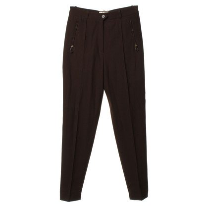Hermès Pantaloni in marrone scuro