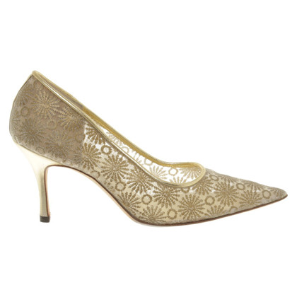 Manolo Blahnik Color oro pumps