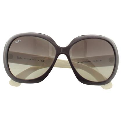 Ray Ban Sonnenbrille in Violett/Weiß