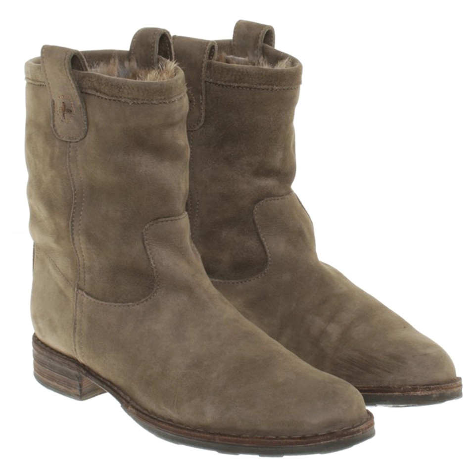fiorentini baker ankle boots in olive green buy second hand fiorentini baker ankle boots. Black Bedroom Furniture Sets. Home Design Ideas