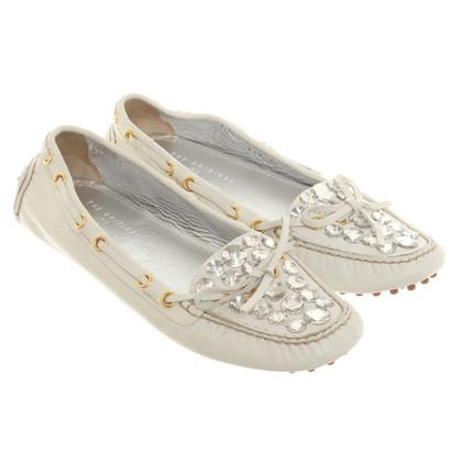 Car Shoe Mocassins avec des pierres semi-précieuses