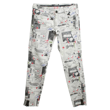 Marc Cain Jeans with comic pattern