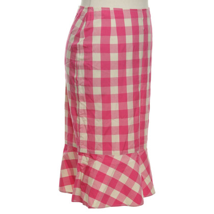 Moschino skirt with check pattern