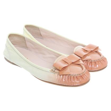 Prada Ballerinas in cream