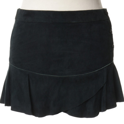 Isabel Marant Suede skirt in green