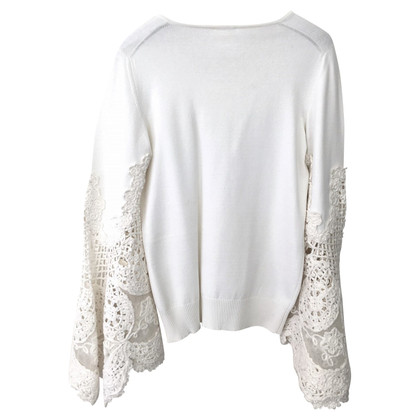 Chanel Crocheted lace sweater