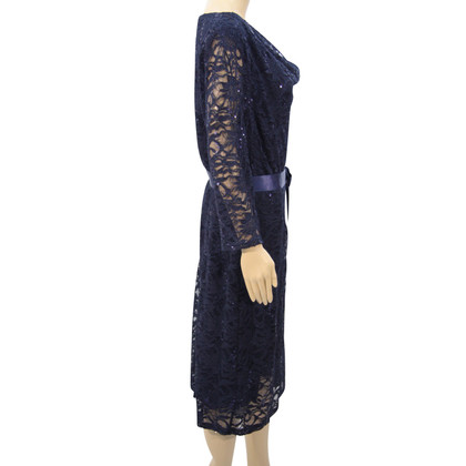 Barbara Schwarzer Lace dress in dark blue