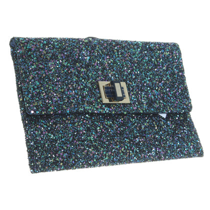 Anya Hindmarch Valorie  Blue Clutch