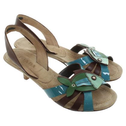 Prada Sandaletten mit Kitten-Heels