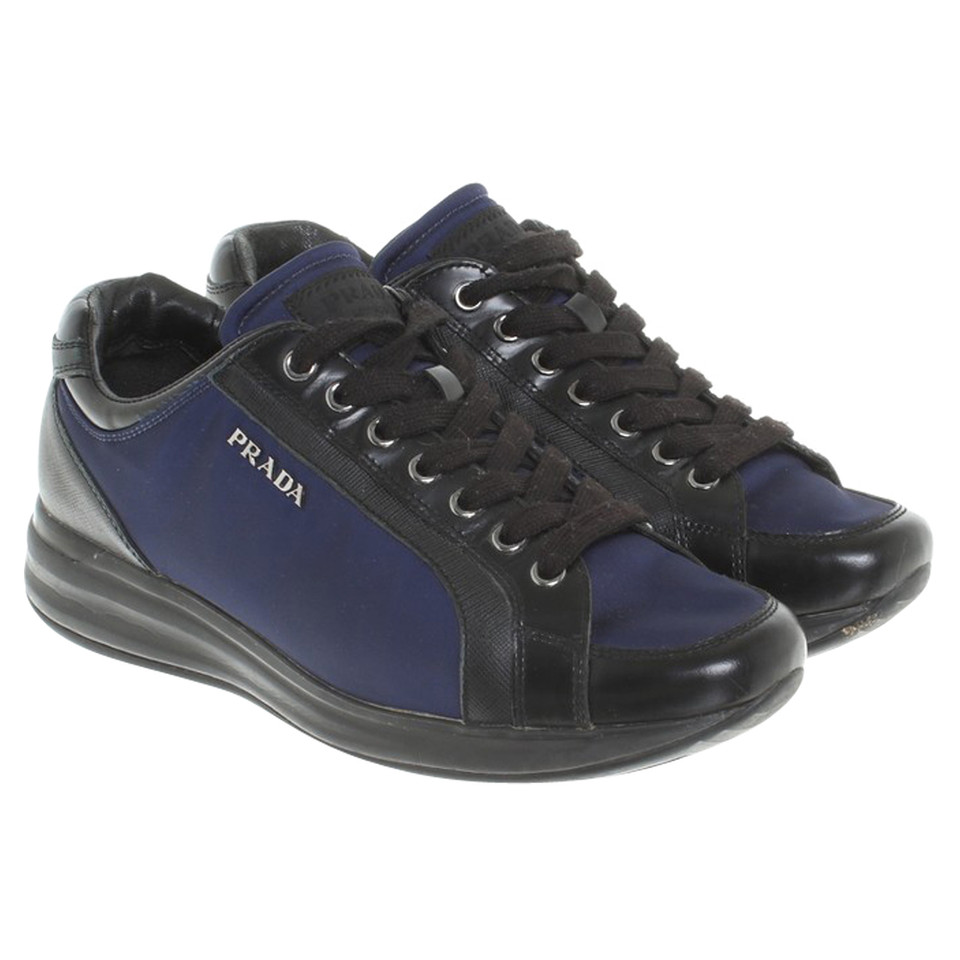 prada sneakers in blau schwarz second hand prada sneakers in blau schwarz gebraucht kaufen f r. Black Bedroom Furniture Sets. Home Design Ideas