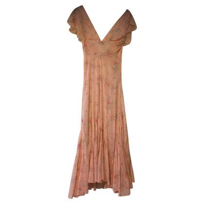 Blumarine Lange jurk in zijde