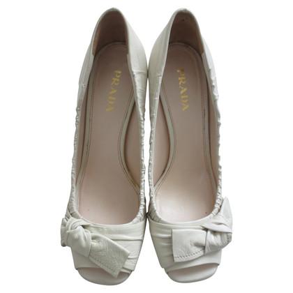 Prada Peep toes in cream white
