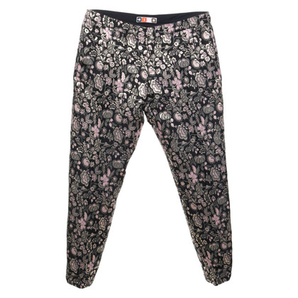 MSGM trousers with a floral pattern