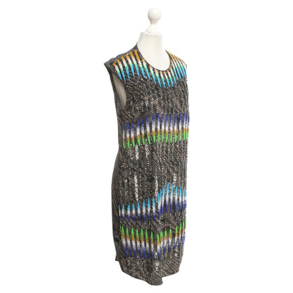 Peter Pilotto Silk dress with sequin trim
