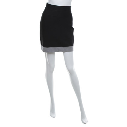 Hervé Léger Mini skirt in black / grey
