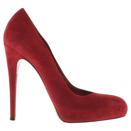 Gianvito Rossi Wildlederpumps in Rot