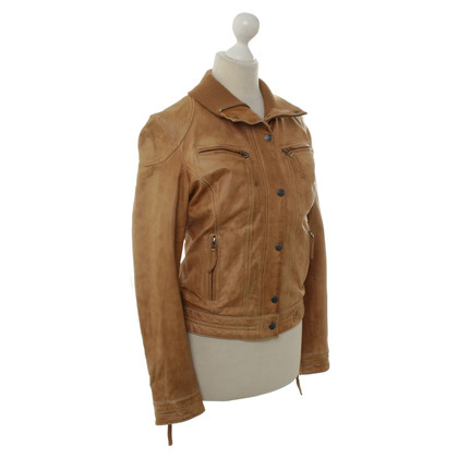 Oakwood Lederjacke in Braun