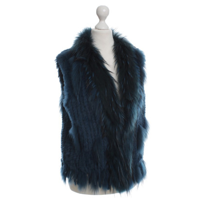 Oakwood Fur vest in teal
