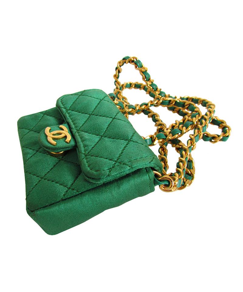 Assez Chanel Collana con borsa verde smeraldo mini flap - Compra Chanel  KM63