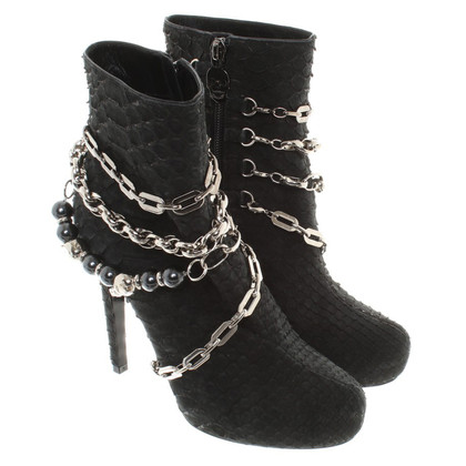 Philipp Plein Ankle boots made of snakeskin