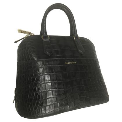 Coccinelle Handbag in reptile finish