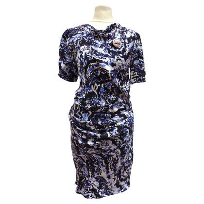Balenciaga zijden jurk met ruches