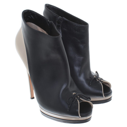 Casadei Ankle boots in black / beige