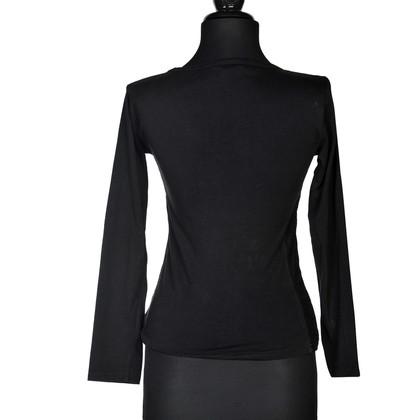 Anna Sui top nero con perline