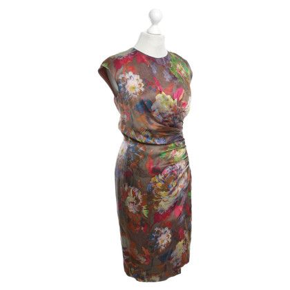 Etro Silk dress with floral pattern