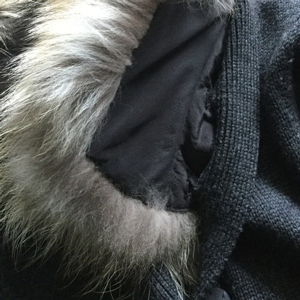 Diane von Furstenberg Cardigan manica corta con rifiniture in pelliccia di coniglio