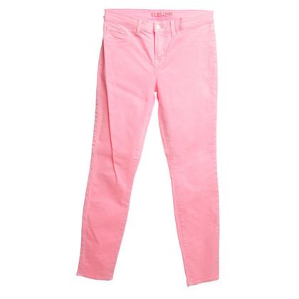 J Brand Pantalon en rose fluo