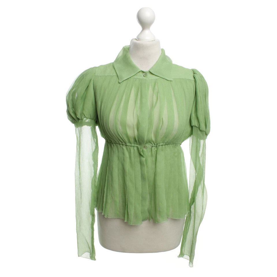 chanel bluse mit volants second hand chanel bluse mit volants gebraucht kaufen f r 299 00. Black Bedroom Furniture Sets. Home Design Ideas
