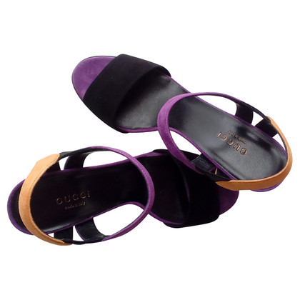 Gucci Veloursleder-Sandaletten