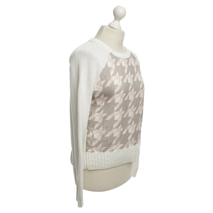 Hugo Boss White sweater with pattern