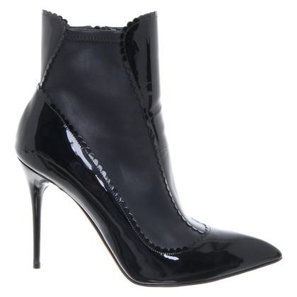 Alexander McQueen Boots van lakleder in zwart