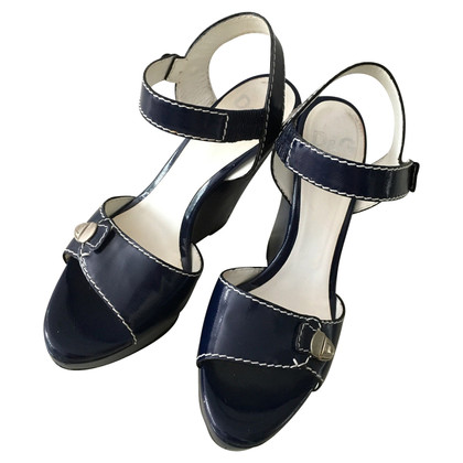 Dolce & Gabbana Wedges in donkerblauw