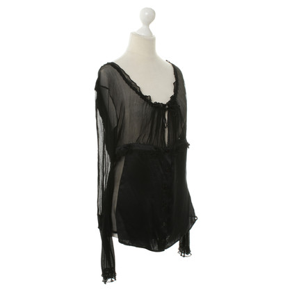 Ferre Transparent blouse in black