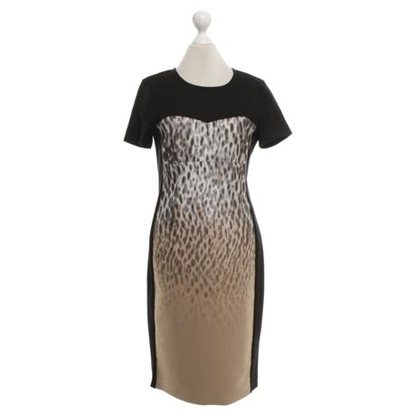 DKNY Kleid mit Leoparden-Muster Schwarz
