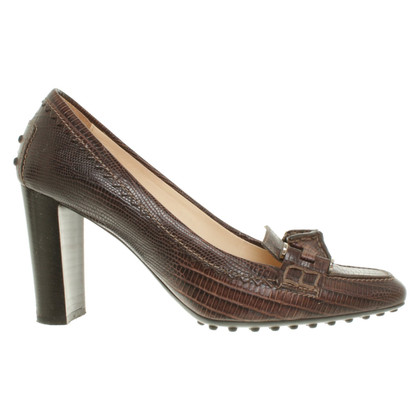 Tod's pumps in reptilian look