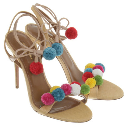 Aquazzura Lace-up pumps in Multicolor