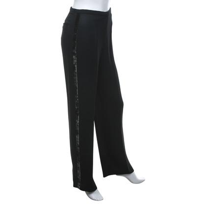 Armani Donkergroene broek met strepen Gallo