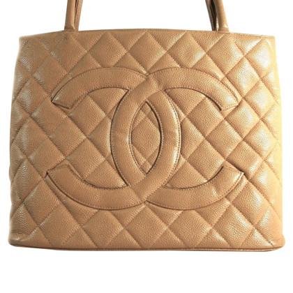 "Chanel ""Tote medaillon"" kaviaar leder"