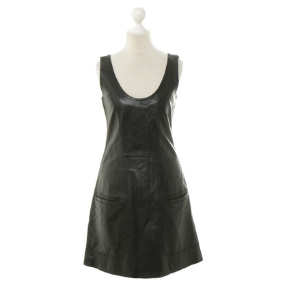 Alice By Temperley Robe en cuir noir