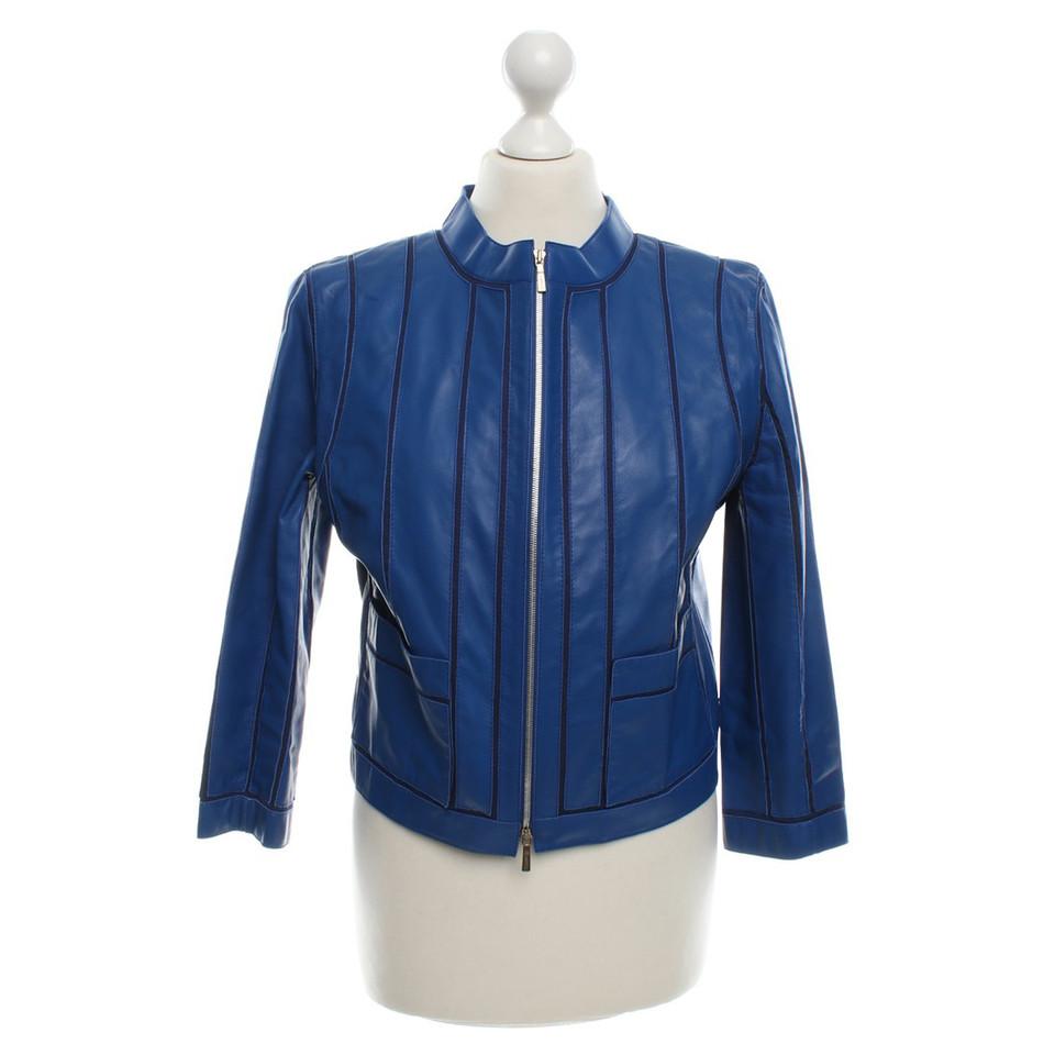 Loewe Leather Jacket in Blue