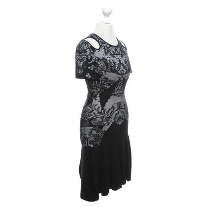 Alexander McQueen Kleid in Schwarz/Weiß