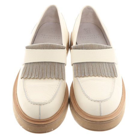 Brunello Cucinelli Cucinelli Brunello Slipper Cremewei in 6qqrxZdTnw