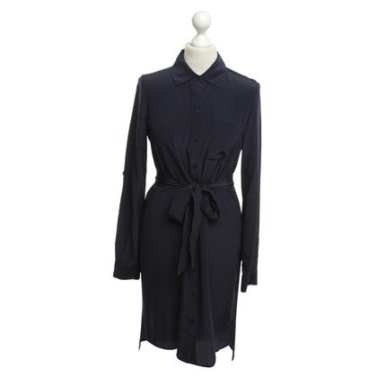 Diane von Furstenberg Seidenkleid in Dunkelblau